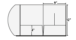 tri panel, 4-color, pocket / presentation folders | presentation, Presentation templates