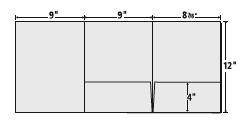 9 X 12 Tri-Panel Presentation Folder template