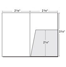 Template - 9 x 14-1/2 Presentation Folder with two 4