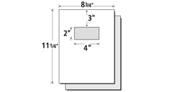 Template - 9x12 Presentation Folder with two 4 inch glued pockets
