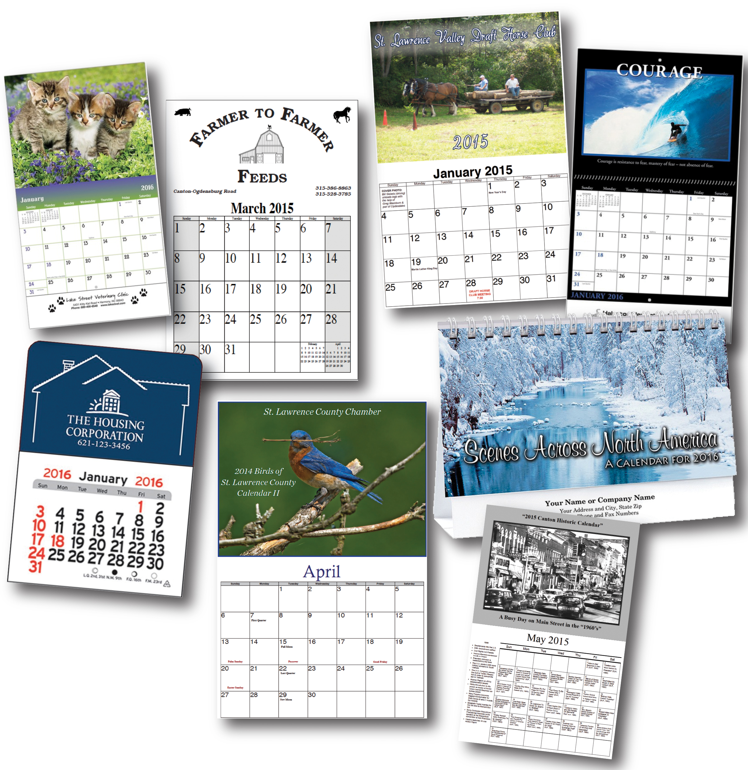 Commercial Press's custom calendars are a great way to maintain name recognition to your clients!