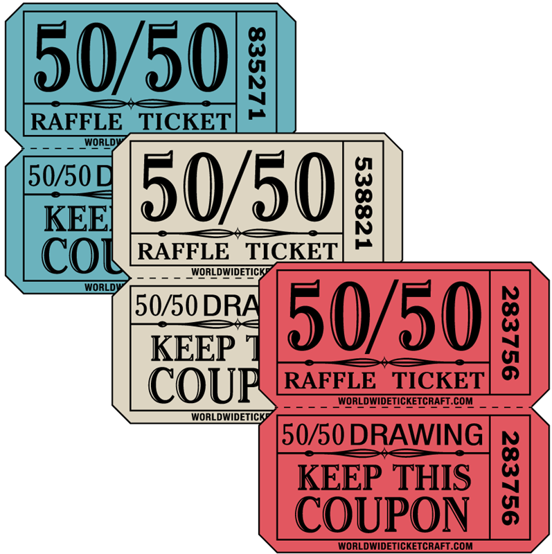 Raffles Prizes Keep This Coupon Co Green 2000 50 50 Double Stub Raffle Tickets
