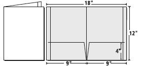 9 X 12 Presentation Folder template