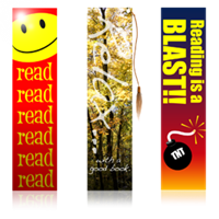 set of three custom bookmarks
